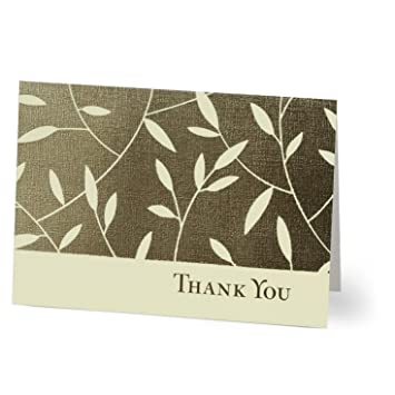 Amazon leafy thank you pack of 25 blank greeting cards leafy thank you pack of 25 blank greeting cards m4hsunfo