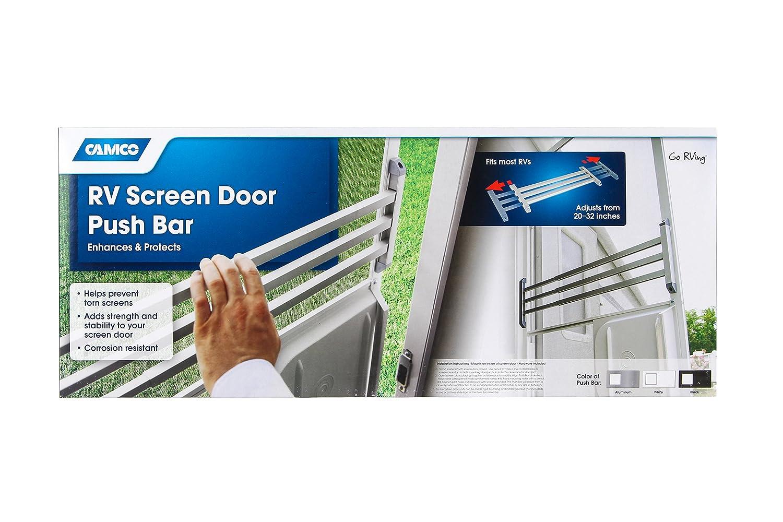 Amazon Camco 43977 Screen Door Push Bar White Automotive