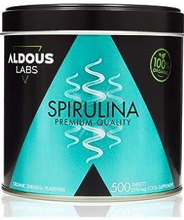 Espirulina Ecológica Premium para 165 días | 500 comprimidos de 500mg con 99% BIO…