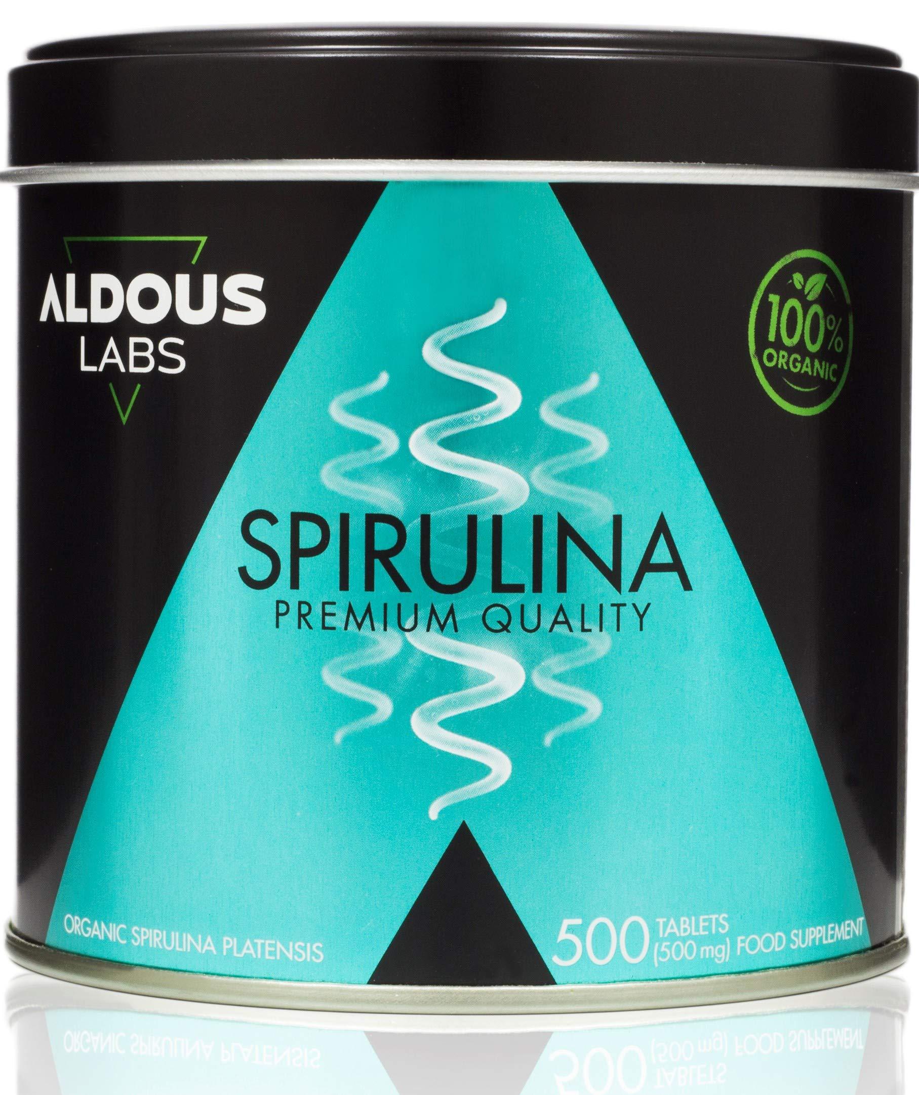 Espirulina Ecológica Premium para 165 días | 500 comprimidos de 500mg con 99% BIO Spirulina