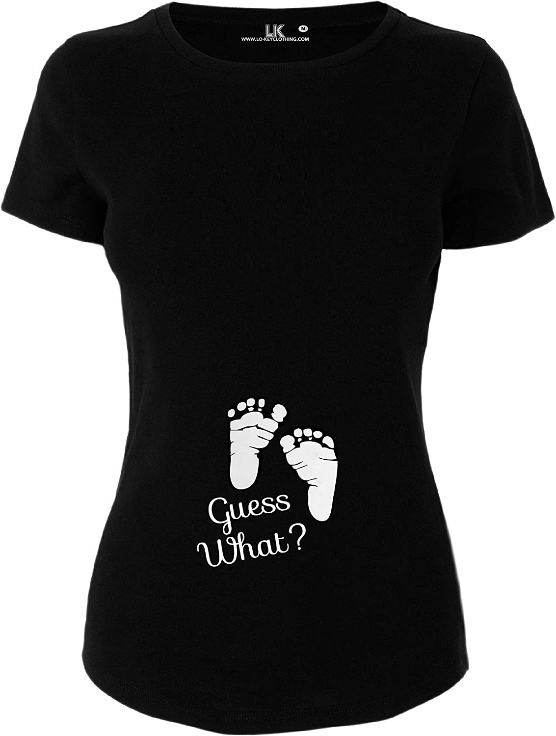 T//Shirt Pregnancy Announcement Top Tee Maternity Guess What