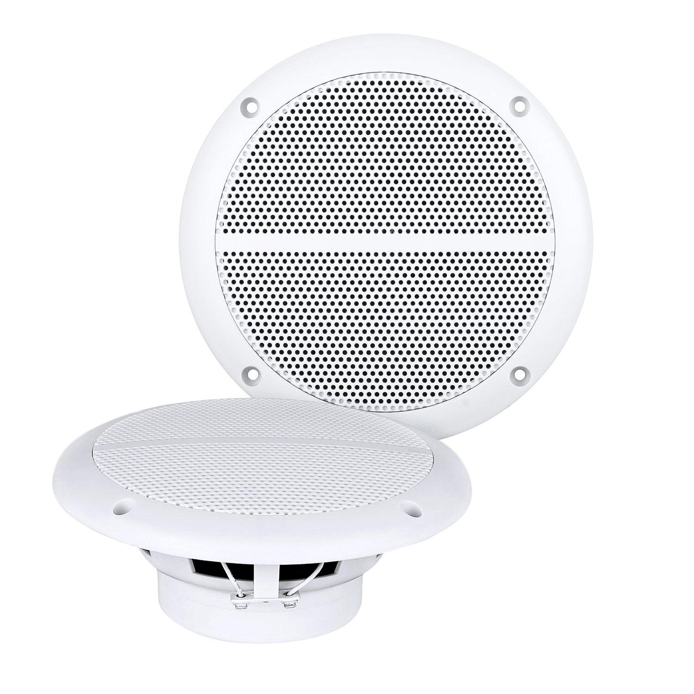 Dual Gauge Hole Mount MP3 USB Bluetooth Receiver With Enrock Marine Dual 6.5 Inch Weather Resistant Marine Speakers 60 Watts Peak Pair & Enrock Rubber Mast Marine Boat Yacht AM/FM Radio Antenna-White by DualMarineBundle (Image #3)