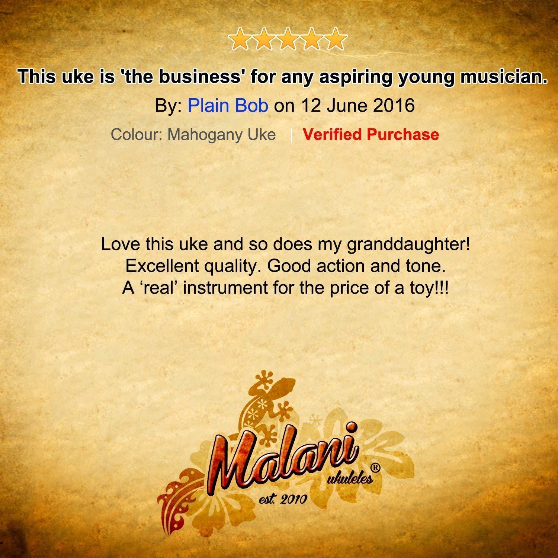 Ukelele soprano Malani incluye pack de iniciaci/ón