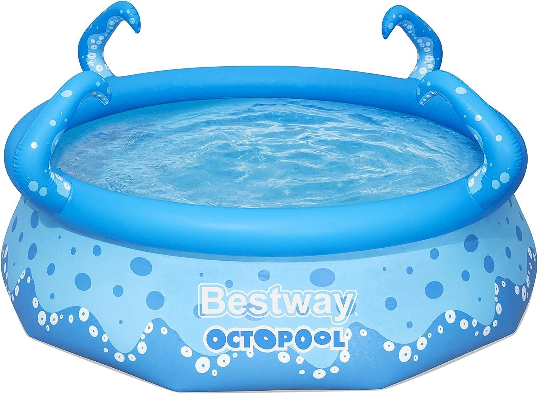 Bestway OktoPool für Kinder, Planschbecken mit aufblasbarem Luftring, 274 x 76 cm Piscina, Azul: Amazon.es: Jardín