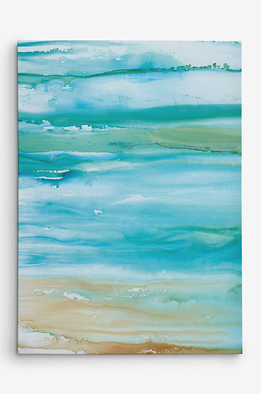Coastal Abstract II Gallery Wrapped Canvas Wall Art