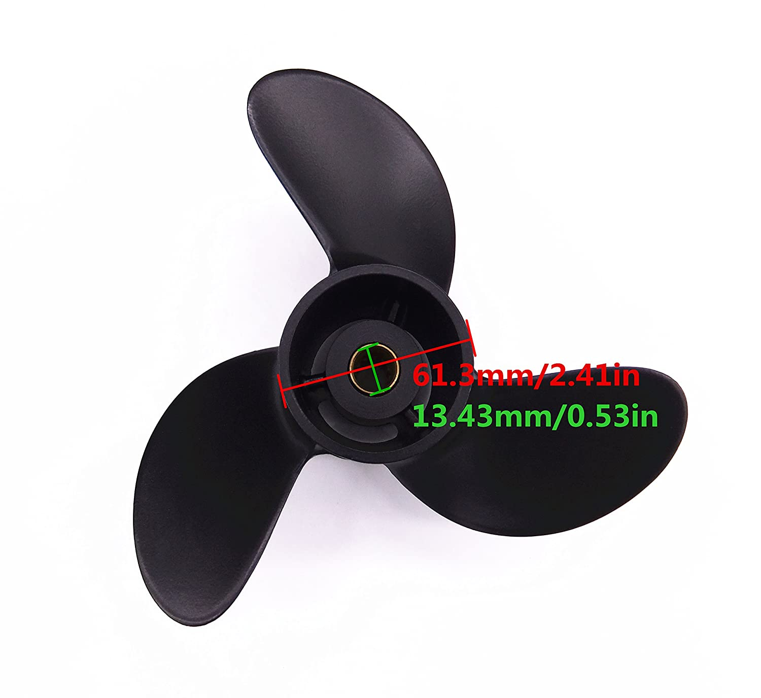 Mercury 2-Stroke 5HP 48-812950A02 Outboard Motors SouthMarine 7.8x8 Aluminium Alloy Propeller for Tohatsu//Nissan 4HP 5HP 6HP 3R1-W64516-0 3R1W645160M