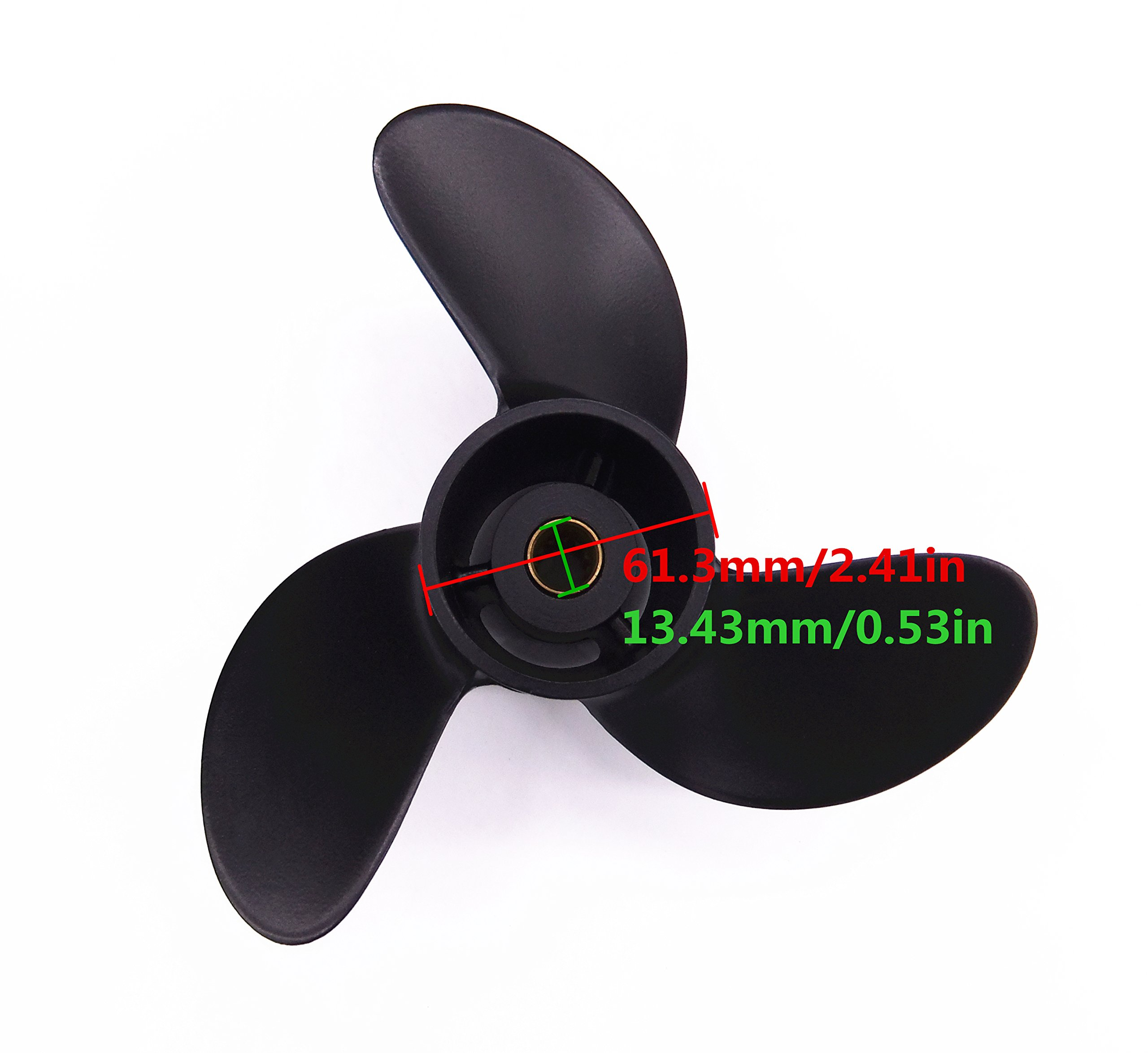 7.8X9 P Aluminum Outboard Propeller For Mercury 4-6HP 48-812951A02