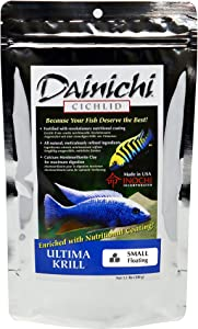 Dainichi Cichlid Food, Ultima Krill, Small Floating (3.5 mm) Pellets, 1.1 lb