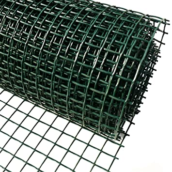 Plastic Garden Fencing 1m x 25m Green 20mm Holes Clematis Netting Mesh -  Ideal for Plant, Pet, Vegetable Protection and Climbing Plant Support Net