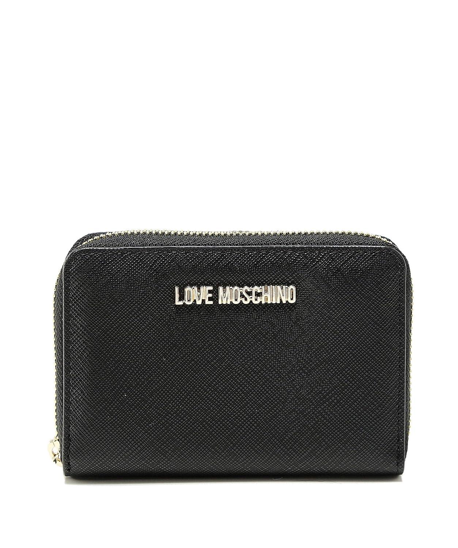 3fba346dc8 Moschino Love Moschino Women's Small Zip Around Wallet Black
