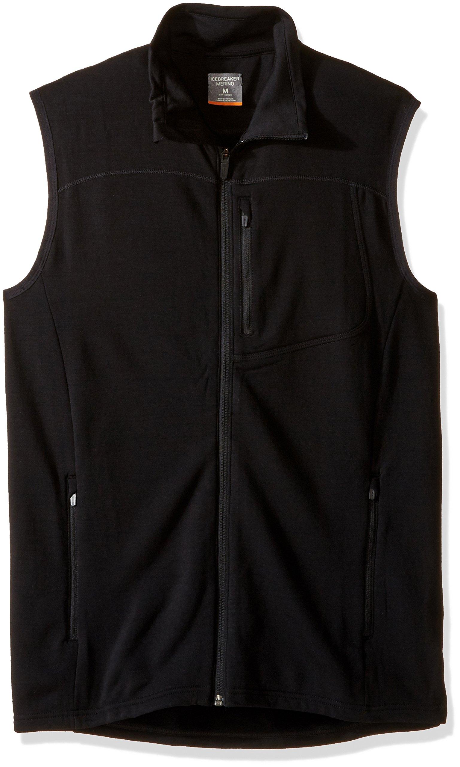 Icebreaker Merino Men's Mt. Elliot Vest, Black, X-Large