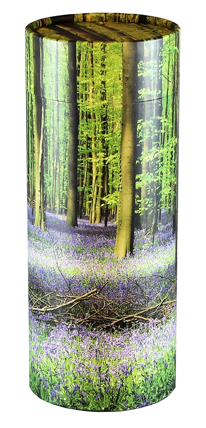 Cherished Urns Bluebell Forest Design Eco-Friendly Scattering Tube - Large Adult
