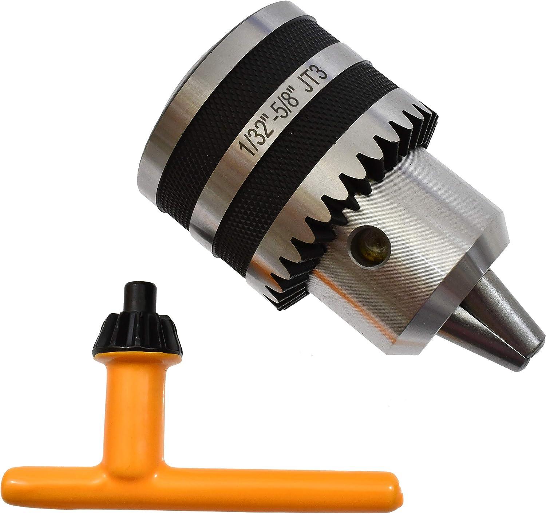 "Free Shipping 3//16-3//4/"" Pro-Series 3JT Keyless Drill Chuck Heavy Duty JT3 CNC"