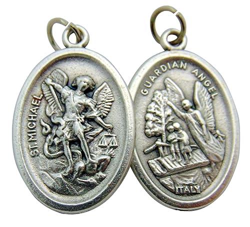 St michael medals bulk lot set of 10 metal saint pendants from italy st michael medals bulk lot set of 10 metal saint pendants from italy aloadofball Image collections