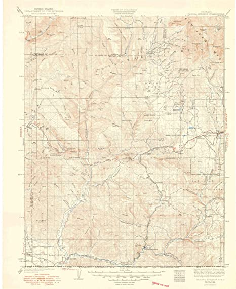 Amazon.com: YellowMaps Pagosa Springs CO topo map, 1:125000 scale ...