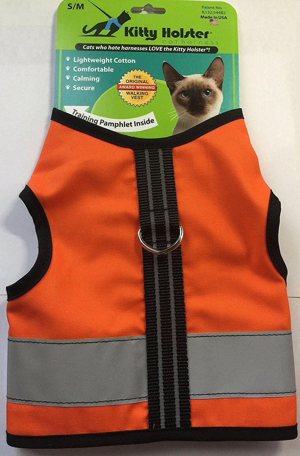 Kitty Holster Reflective Safety Vest - Outrageous Orange (XS)