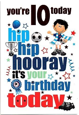 Birthday Card Ten 10 Year Old Boy