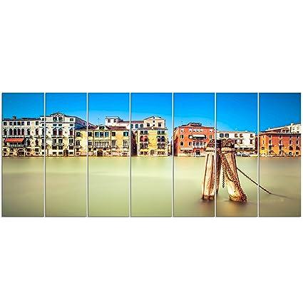 Designart PT13075-732 Traditional Buildings of Venice Landscape ...