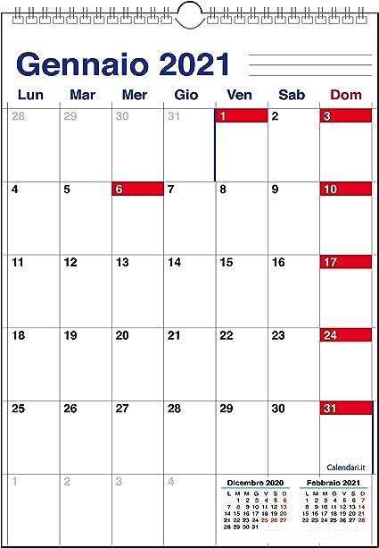 Borsa Americana Calendario 2021 Calendario 2021 da muro Caselle stile Americano: Amazon.it