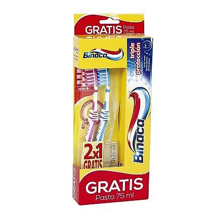 BINACA - 2 Cepillos Dentales Active + Pasta Dentífrica Gratis