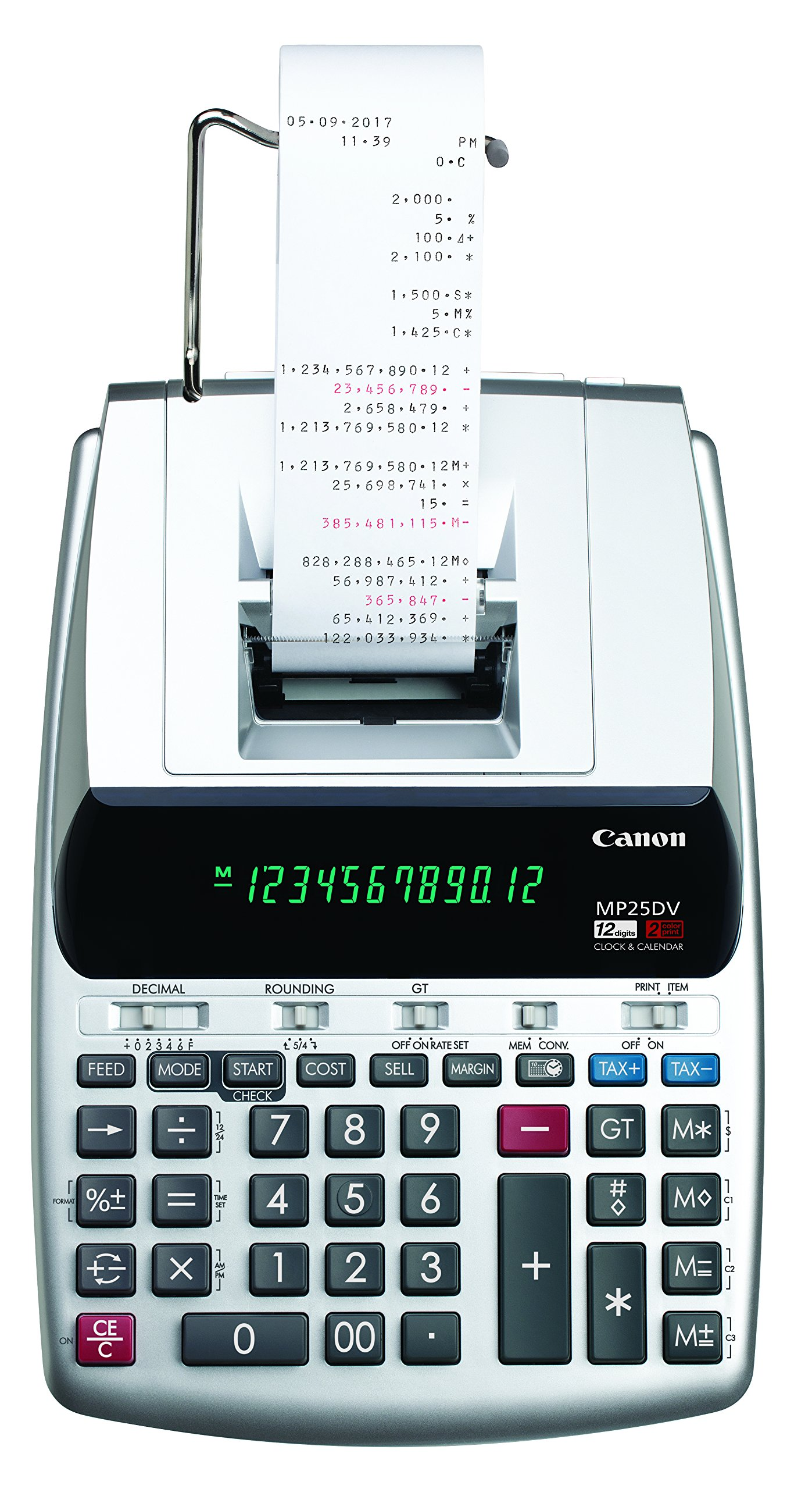 Canon Office Products 2202C001 Canon MP25DV-3 Desktop Printing Calculator with Currency Conversion, Clock & Calendar by Canon
