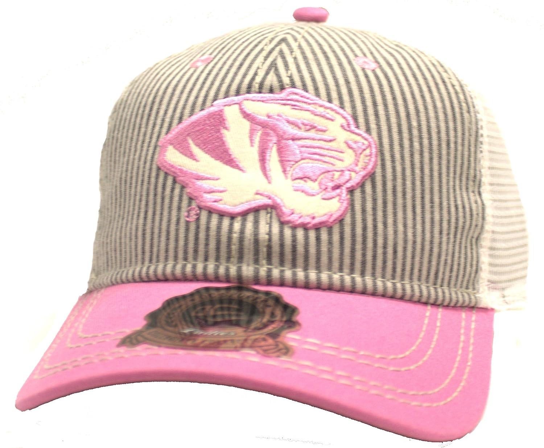 Mizzou」Missouri Tigers WomensピンクOCコレクション調節可能な帽子 B079ZN5KY4