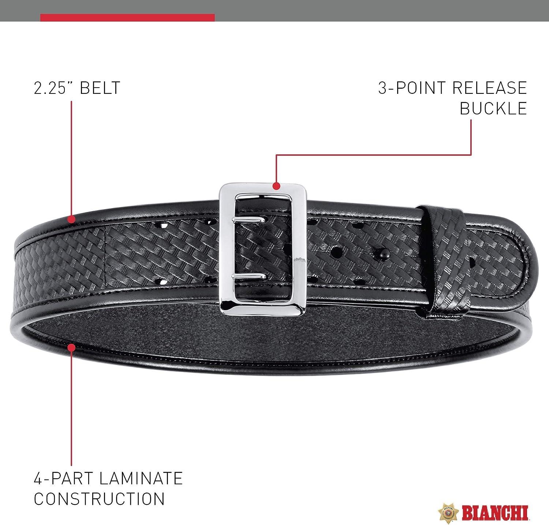 "Bianchi 7960 Black Plain AccuMold Elite Sam Browne Duty Belt 38/"" Waist 22222"
