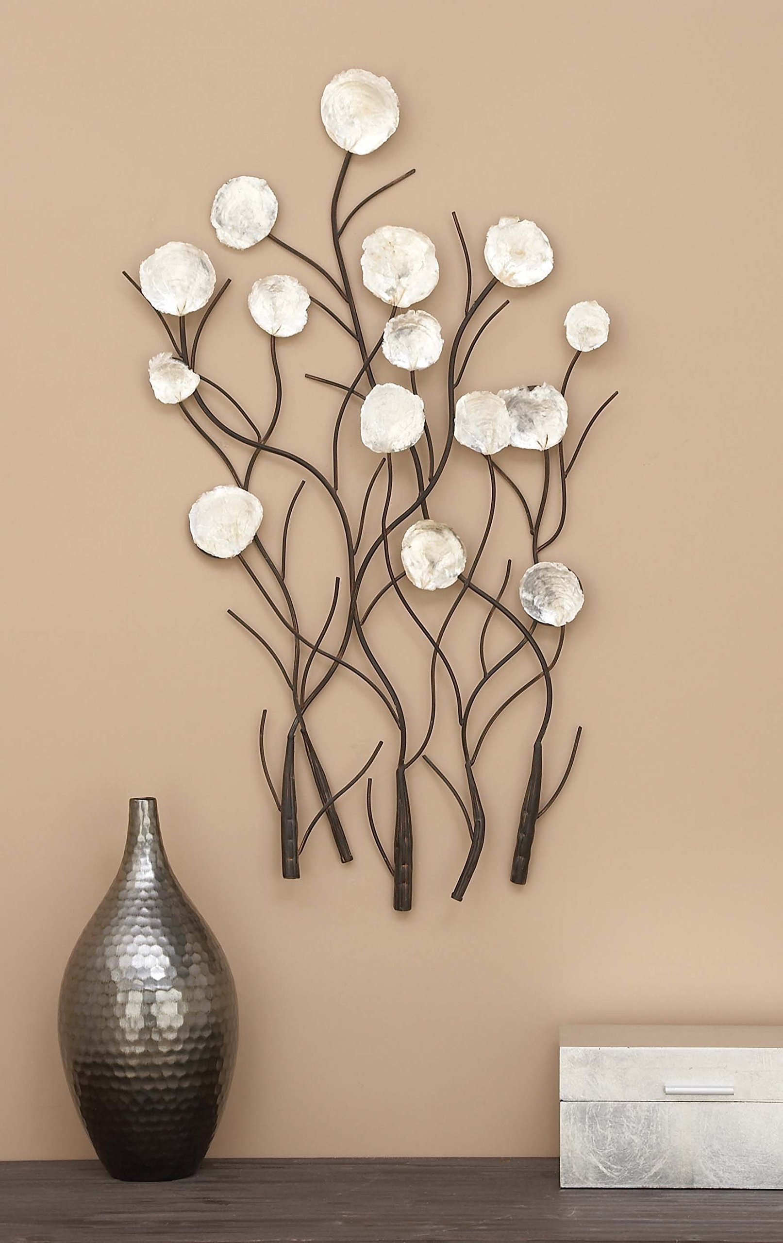 Benzara Metal Capiz Wall Decor