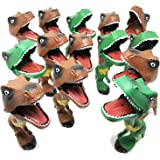 BOLEY (12-Pack) Dinosaur Grabber Toy - Dinosaur Toy Great for Party Favors and Dinosaur Parties