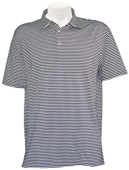 f5c72b40b Amazon.com: Peter Millar Competition Stripe Jersey Performance Polo Shirt -  Midnight: Sports & Outdoors