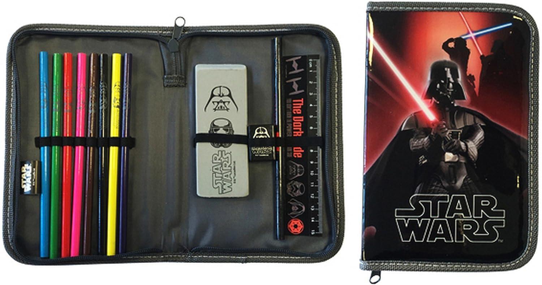 Disney Star Wars officiel pour enfants/enfants Trousse remplie - Rouge - Taille Unique: Amazon.es: Ropa y accesorios