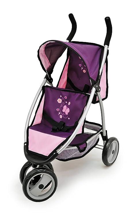 Bayer Design Cochecito de Gemelos para Hacer Footing Color Lila, Rosa 39757