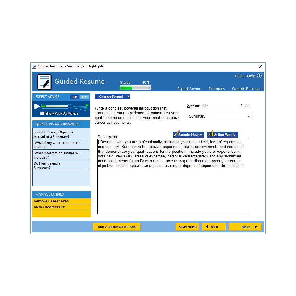 Individual Software: ResumeMaker Professional Deluxe 20 [Download] Arts