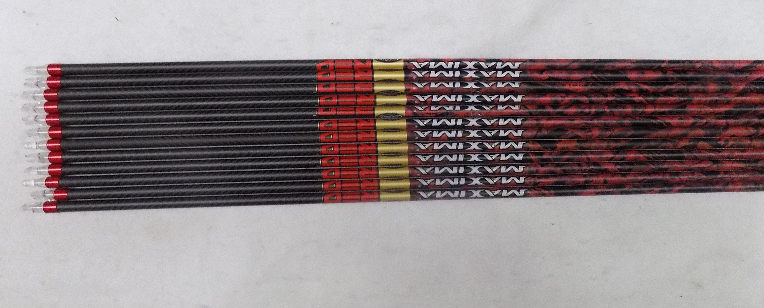 Carbon Express Maxima Red 250 Mathews Mossy Oak Blaze Wraps w/Blazer Vanes 1 Dz.