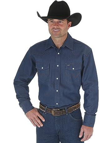 948af0ef95ba Wrangler Men's Western Work Shirt Firm Finish