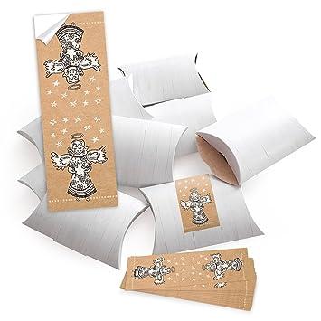 10 Cajas Pequeñas Cajas De Regalo regalo de Navidad Blanco (14,5 x 10