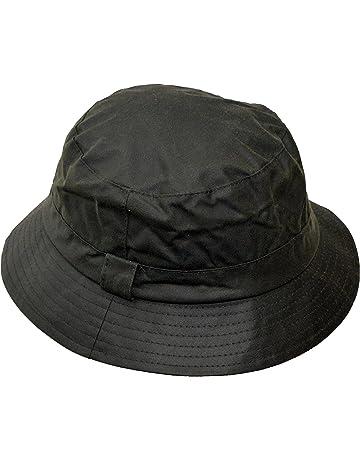 Walker   Hawkes - Uni-Sex Wax Bush Bucket Fishing Country Hat - Olive 230993b6ab2e