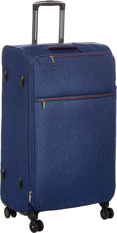 AmazonBasics – Maleta con ruedas flexible acolchada Belltown, 78 cm, Azul marino