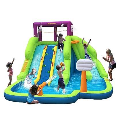 af1b2090ea760a Amazon.com  Kahuna Triple Blast Kids Outdoor Inflatable Splash Pool ...