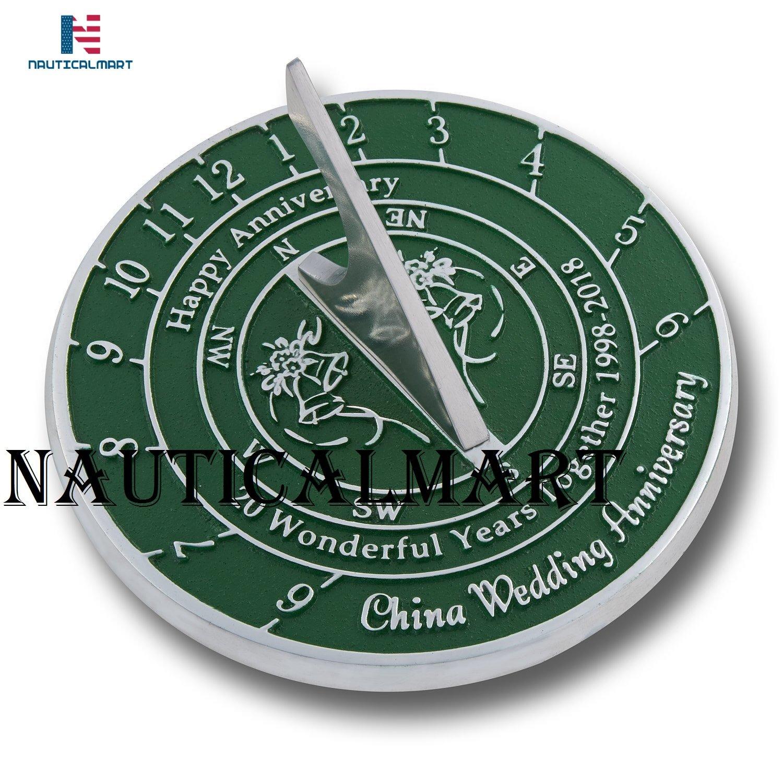 NauticalMart 20th Wedding & Anniversary Sundial Gift