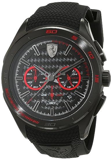 Ferrari 0830344 Gran Premio - Reloj analógico de pulsera para hombre (cuarzo, correa de