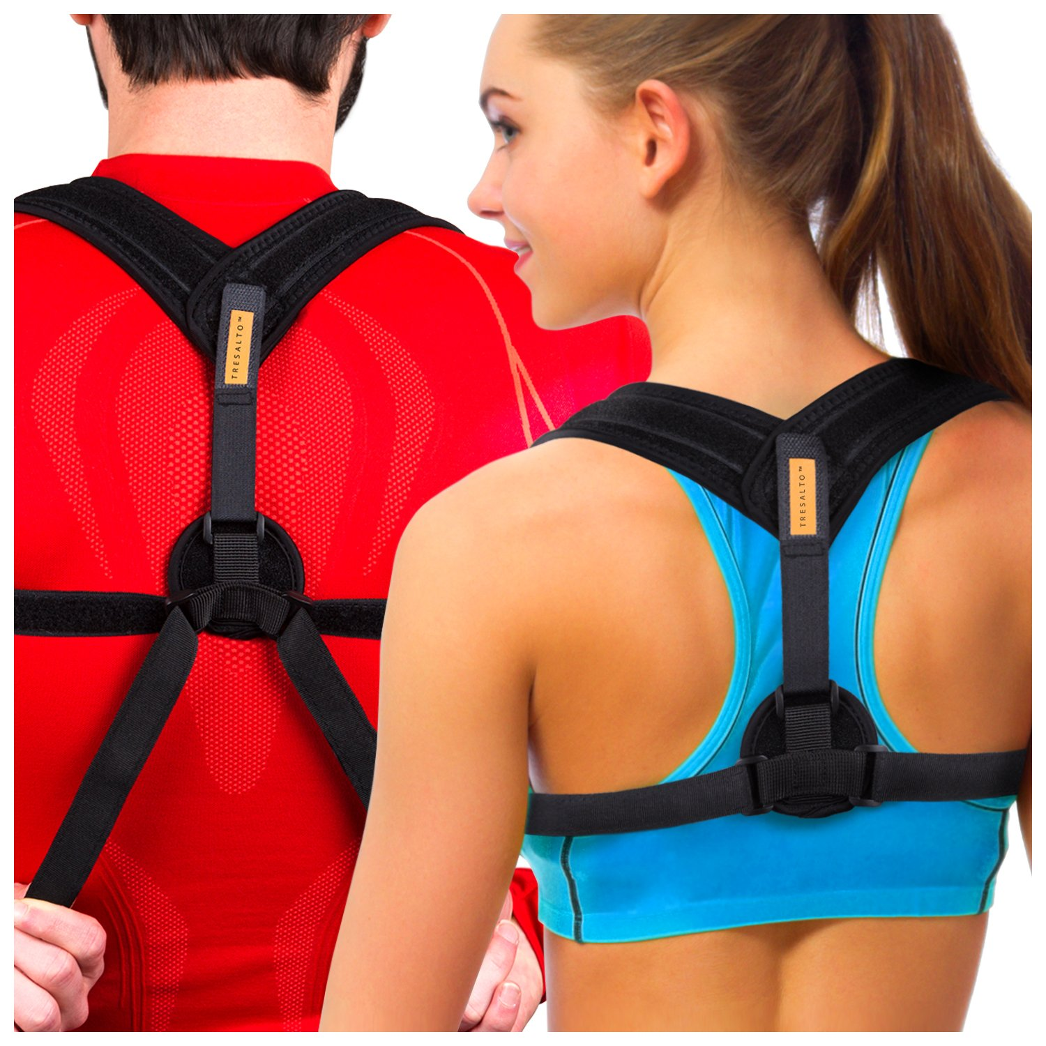 Tresalto Women Back Posture Corrector Brace with Effective, Orthopedic, Comfortable, Discreet Under Clothes Design