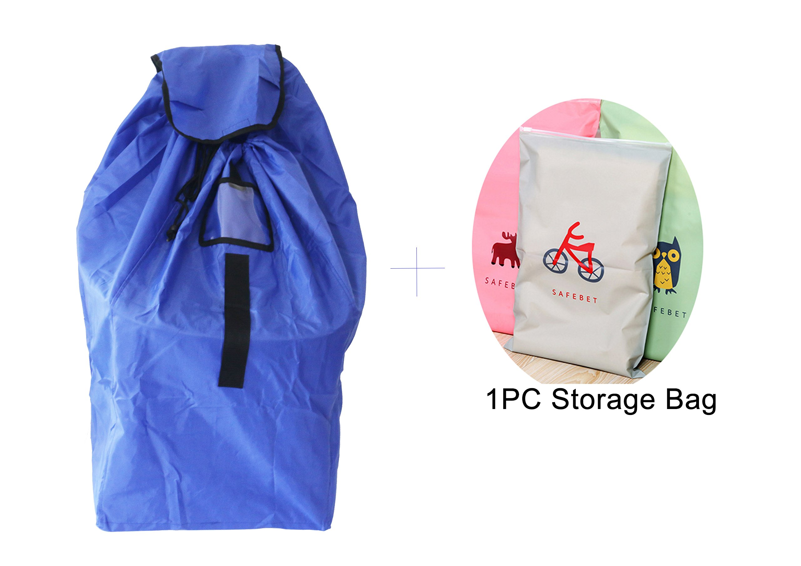 Car Seat Travel Bag, Car Seat Cover, Infant and Baby Carrier Travel Bag, Airport Gate Check Bag with an Extra foldable travel Storage Bag