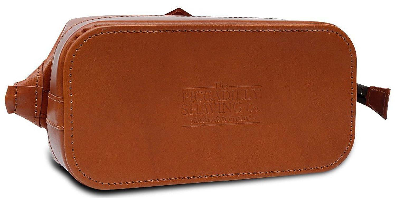 c4b0fc3ba886 Amazon.com : Piccadilly Leather Wash Bag Tan 'Gladstone Style' : Beauty