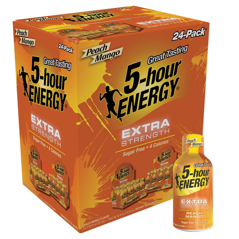 5 Hour Energy, Extra Strength Peach Mango, 24 Count by 5 Hour Energy (Image #1)