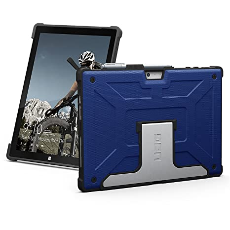 URBAN ARMOR GEAR UAG Microsoft Surface Pro 6/Surface Pro 5th Gen (2017)/Surface Pro 4 Feather-Light Rugged [Cobalt] Aluminum Stand Military Drop ...