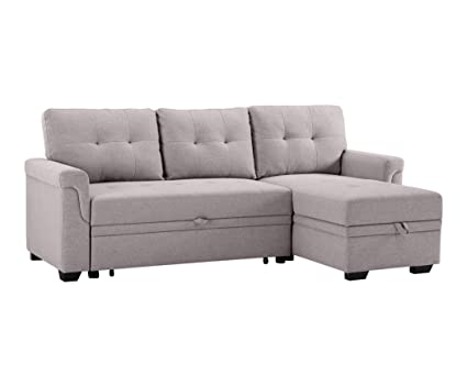 Enjoyable Amazon Com Sectional Sofa With Storage Chaise Set Linen Gmtry Best Dining Table And Chair Ideas Images Gmtryco