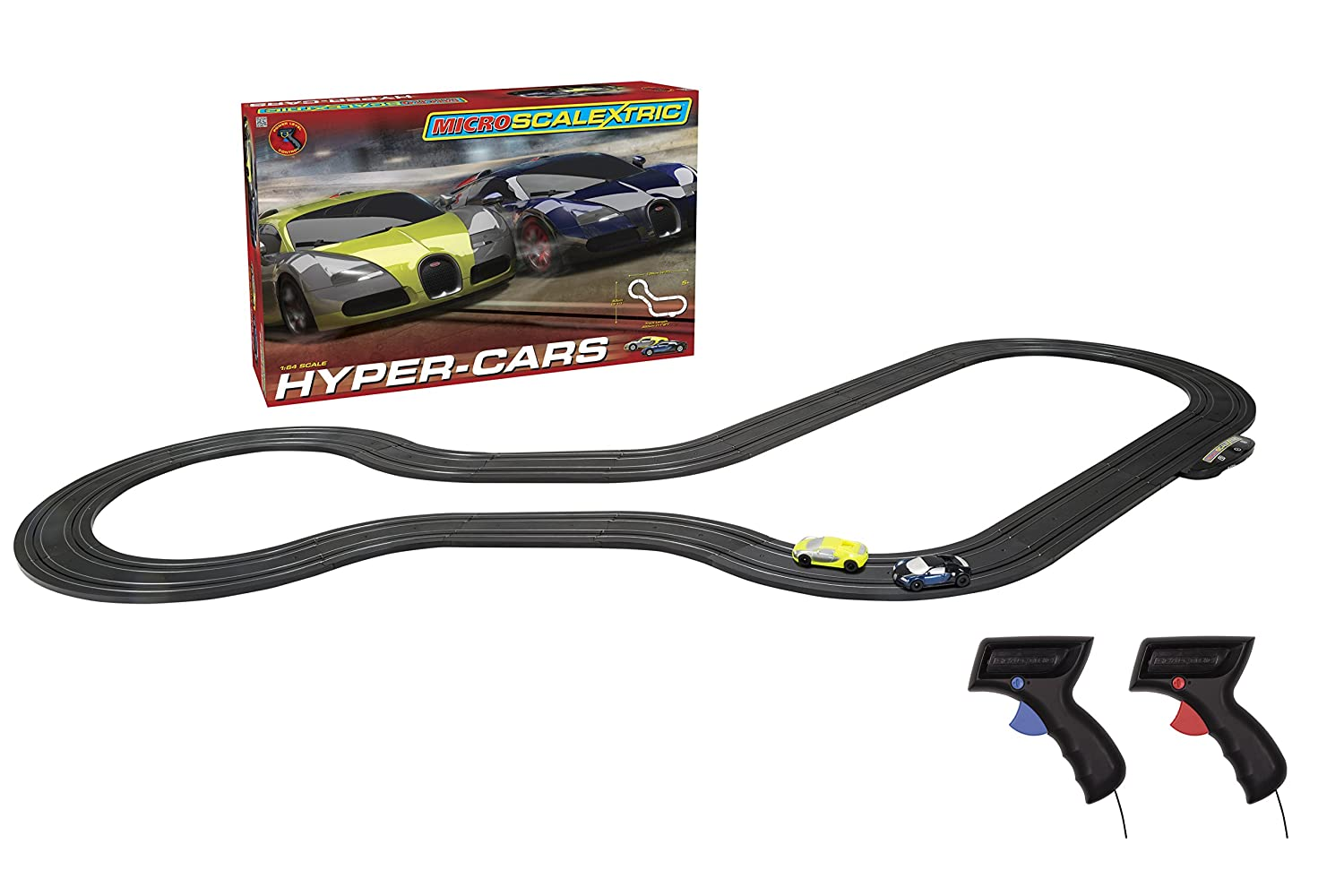 Amazon Com Scalextric Micro Hyper Cars Race Set Scale
