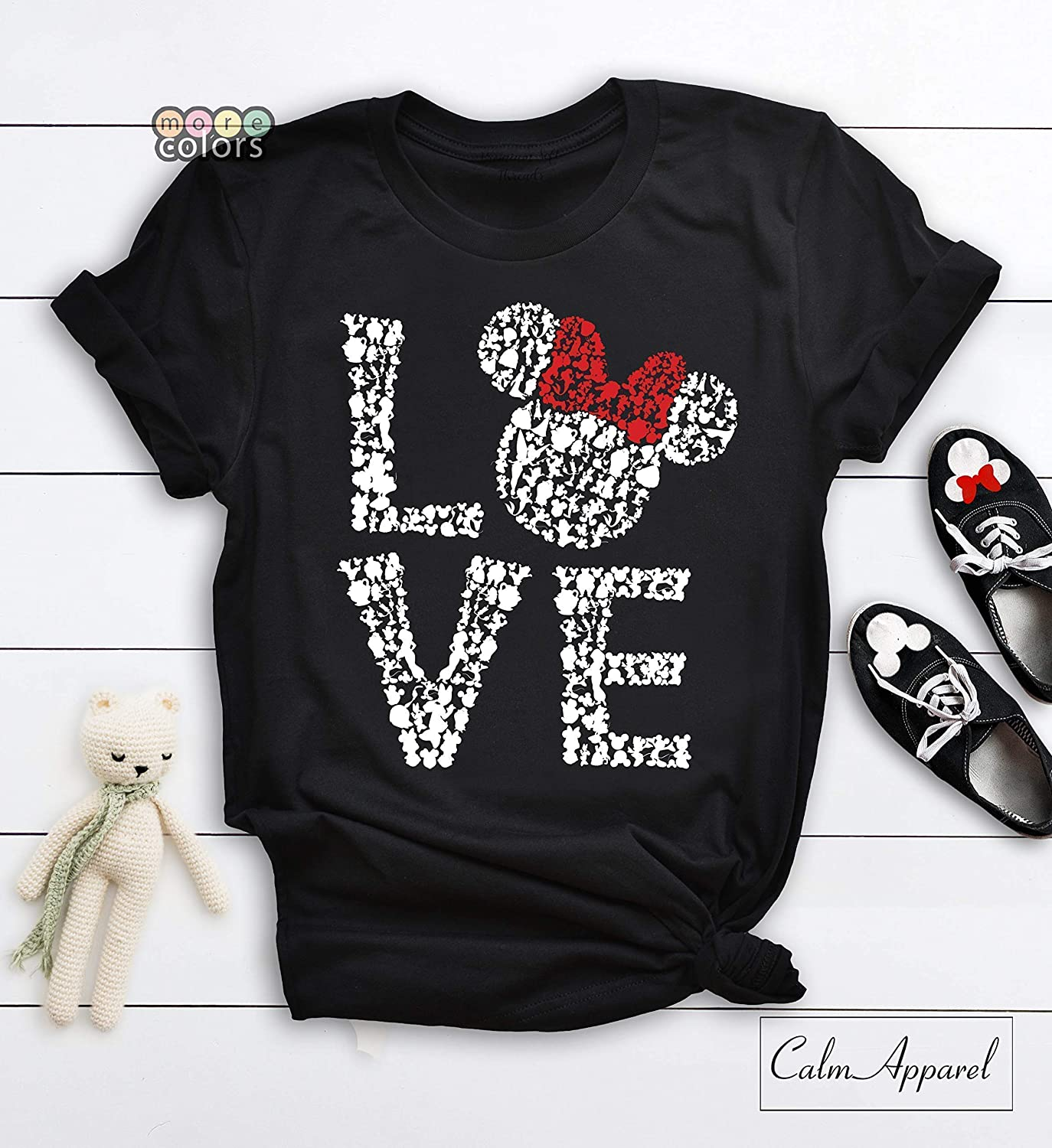 Love Shirts Love Tees Girls Youth Family Matching Tank Tops Ladies Minnie Mouse Womens T-Shirt