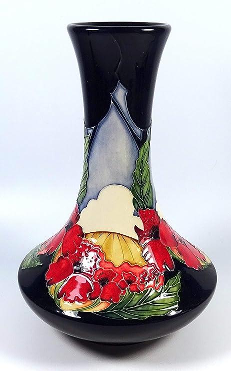 Moorcroft Forever England Poppy Ww1 Remembrance 627 Vase 1st Rrp